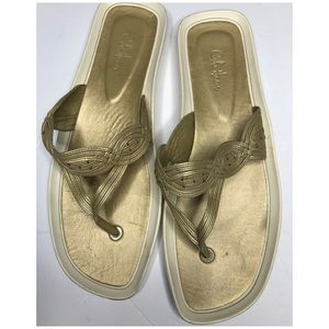 Cole Haan Gold Thong Sandals
